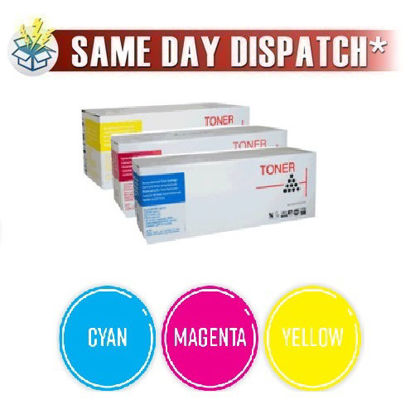 Picture of Compatible High Capacity 3 Colour Oki 4446972 Toner Cartridge Multipack