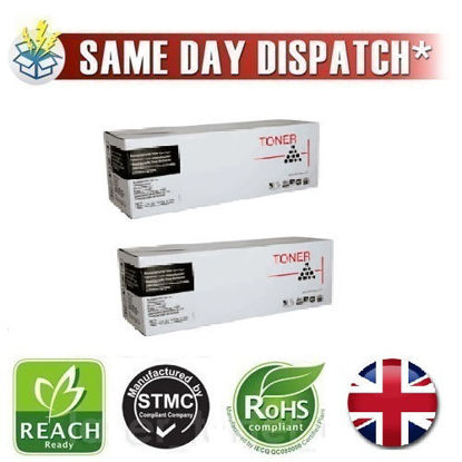 Picture of Compatible High Capacity Black Epson S050631 Toner Cartridge Twin Pack