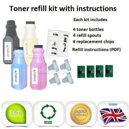 Picture of OKI C9655 Toner Refill Rainbow Value Pack