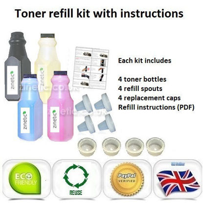 Compatible High Capacity 4 Colour Brother TN-325 Toner Refill Multipack